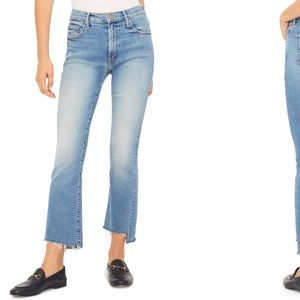 MOTHER The Insider High Waist Crop Step Fray Jeans